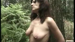 Busty mature woman is giving a blowjob to a handsome, black guy, while her husband is watching