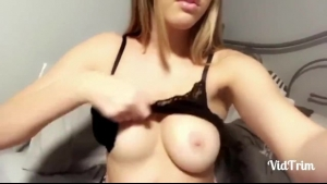 Busty beauty massaged and toyed by her horny boyfriend