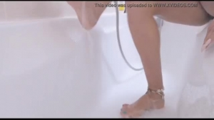 A real amateur knockoff of the sexy Tiffany washing her feet