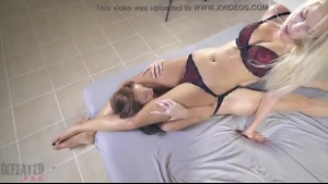 American glamour lesbians panty trading after face sitting